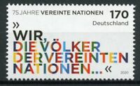 Germany UN Stamps 2020 MNH United Nations 75 Years 1v Set