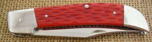 HENRY PARKER CUSTOM HANDMADE VINTAGE SLIPJOINT FOLDING KNIFE,BONE, D2