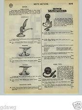 1932 PAPER AD Boyce Car Automobile Hood Ornament Victory Goose Moto Meter