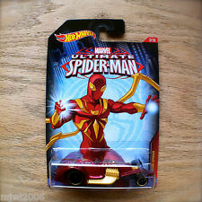 Hot Wheels ULTIMATE SPIDER-MAN Iron Spider as HAMMERED COUPE Marvel 3/10 diecast