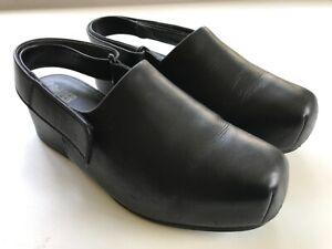 Leather Camper Black Wedge Slingback Sandals size 39/UK size 6