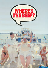 POSTER :ADVERTISING : COMICAL AD FOR WENDY'S - WHERE'S THE BEEF ? - #3-30 RP77 E