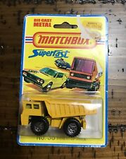 1976 MATCHBOX SUPERFAST by LESNEY 58 Faun Dump Truck Unused in Blister Pack