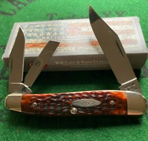 case xx 6380 large whittle knife 9 dot 1971 red bone mint clean and tight snap