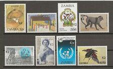 ZAMBIA 1991 SG 662 , 664-9 , 671 MNH Cat £427