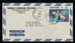 HONDURAS Commercial Cover Tela to New York City 31-8-1970 Cancel