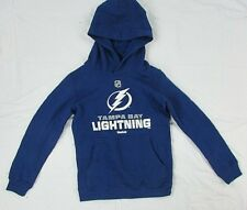 Tampa Bay Lightning NHL Youth Kid's Blue Reebok Pullover Hoodie S M L
