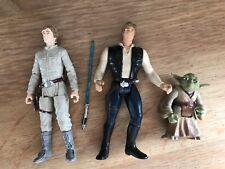 Figuras De Acción De Star Wars. Luke Skywalker, Han Solo y Yoda.