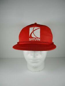 VINTAGE SATURN CAR BALL CAP HAT Trucker Snapback Mesh USA