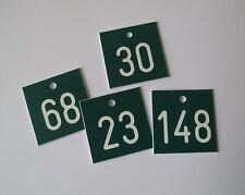 1 Stück PVC Schilder Zahlenmarken Ziffernschilder  40mm x 38mm Gravur kostenlos
