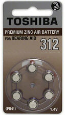 Toshiba Hearing Aid Batteries Size 312 (360 Batteries)
