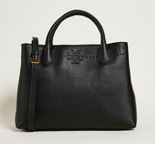 NEW Authentic Tory Burch McGraw Triple Compartment Satchel - Black Bag