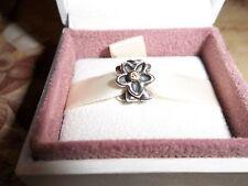 Genuine Pandora Silver, 14ct Gold & Diamond Daisy Charm 790541D  - RRP £180
