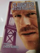 rare Slaughter in San Francisco 1974 VHS Chuck Norris cold blooded killer cocain