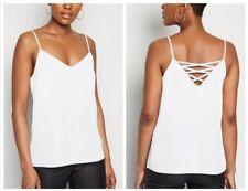 New Look - Ivory Lattice Back Cami Top - Size 14 - BNWT