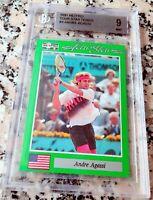 ANDRE AGASSI 1991 Netpro SP Rookie Card RC BGS 9 9.5 Legend HOF Grand Slam $$$$