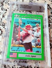 ANDRE AGASSI 1991 Netpro SP Rookie Card RC BGS 9 9.5 Legend HOF Grand Slam $$$$