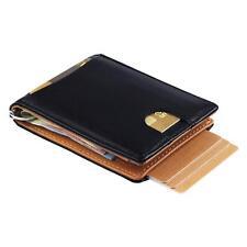 Geldbörse mit Geldklammer aus Leder - Geldbeutel mit RFID Schutz & Ausweisfach