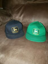 2 John Deere Kids Hats 1 Is Vintage and Rare with Gold and Black patch