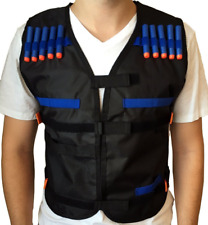 20X Foam Bullets Darts + 1X Tactical Vest Jacket for Gun Toy Kids Games
