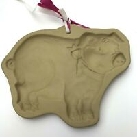 Brown Bag Cookie Art Mold Pig 1986 Candy Baking Cookies Stoneware