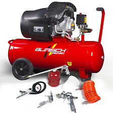 Air Compressor 50litre + 5 Pc Accessory kit 3HP 10 bar V Twin Burisch Portable