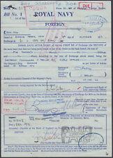 1971 HMS Gurkha / Bandar / Abbas Royal Navy Bill of Exchange Foreign Section