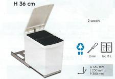 Pattumiera Estraibile Grigia o Bianca  - Sottolavello - 2 Secchi da 7,5 litri