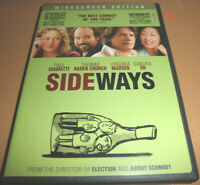 SIDEWAYS DVD Sandra Oh Paul Giamatti Alexander Payne Virginia Madsen wine tastin