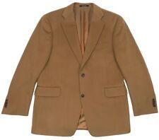 silverstone arnold brant 100% cashmere tan 2btn sport coat jacket 42 reg