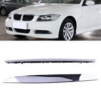 2X Stoßstange Schutzleisten Leisten Blende Trim für BMW E90 E91 325i 330i 328i
