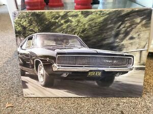 Dodge Charger R/T Car Chase Bullitt Repro Sign