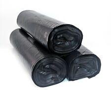 55 Gallon LDPE 1 Mil Medium Duty Black Drum Liner Trash Outdoor & Yard Bags Ties