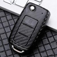Carbon Fiber Car Key Case Cover Shell For VW Passat Caddy Eos Golf Jetta Polo