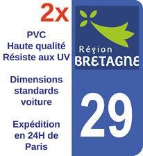 Sticker Autocollant plaque d'immatriculation Département 29 Bretagne Finistère