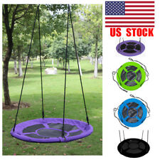 40'' Kids Outdoor Round Hanging Rope Nest web Tree Swing Garden Yard Toys