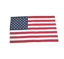 American Flag Made in the USA Patriotic Cloth Flag w/ Metal Grommets 5ft. x 3ft.