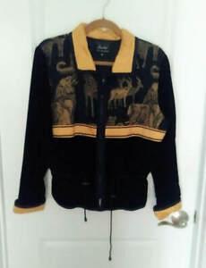 Amiko San Francisco Velvet Safari Jacket w/ Raw silk