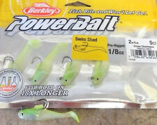 "Berkley PowerBait Swim Shad - 2"" - Shiner Chartreuse, soft plastic lure"