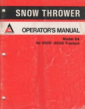 1979 ALLIS-CHALMERS SNOW THROWER MODEL 64 OPERATOR'S MANUAL 2109509 (272)