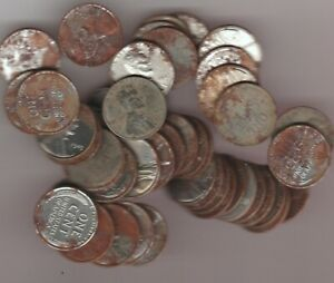 Lot of 150 Steel Cents, 50 each P-D-S, Corroded