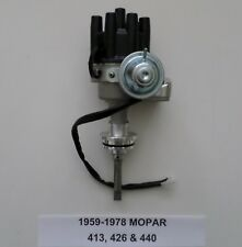 MOPAR 1959-1978 413 426 440 BLACK Small Female Cap HEI Distributor READY TO RUN