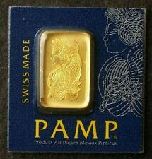 Pamp Suisse 1 gram Gold Fortuna Bar in Assay Card