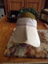 Womens Summer Straw Wide Bro Visor Sun Hat Headband Tennis Golf Sun Cap