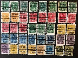 CANADA 1911-25 #s104xx/119xx KING GEORGE V- 40 CITY PRECANCEL SPACE FILLERS