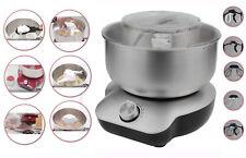 DMS® 5 L Küchenmaschine 1400W Knetmaschine Rührmaschine EdelstahlSchüssel Silber
