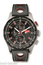 DUCATI Corse Evolution Uhr Quarz Chronograph Armbanduhr Watch schwarz NEU 2017