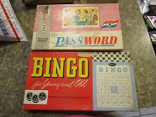 Lot of 2 vintage games Password and Bingo - RAYLOT