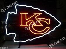 17X14 New KANSAS CITY CHIEFS FOOTBALL Real Neon Sign Bar Beer Light FAST SHIP