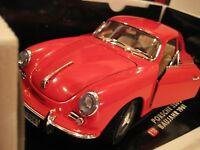 Tchibo/Bburago (Italy) Red 1961 Porsche 356B Coupe Diecast 1:18 NIB
